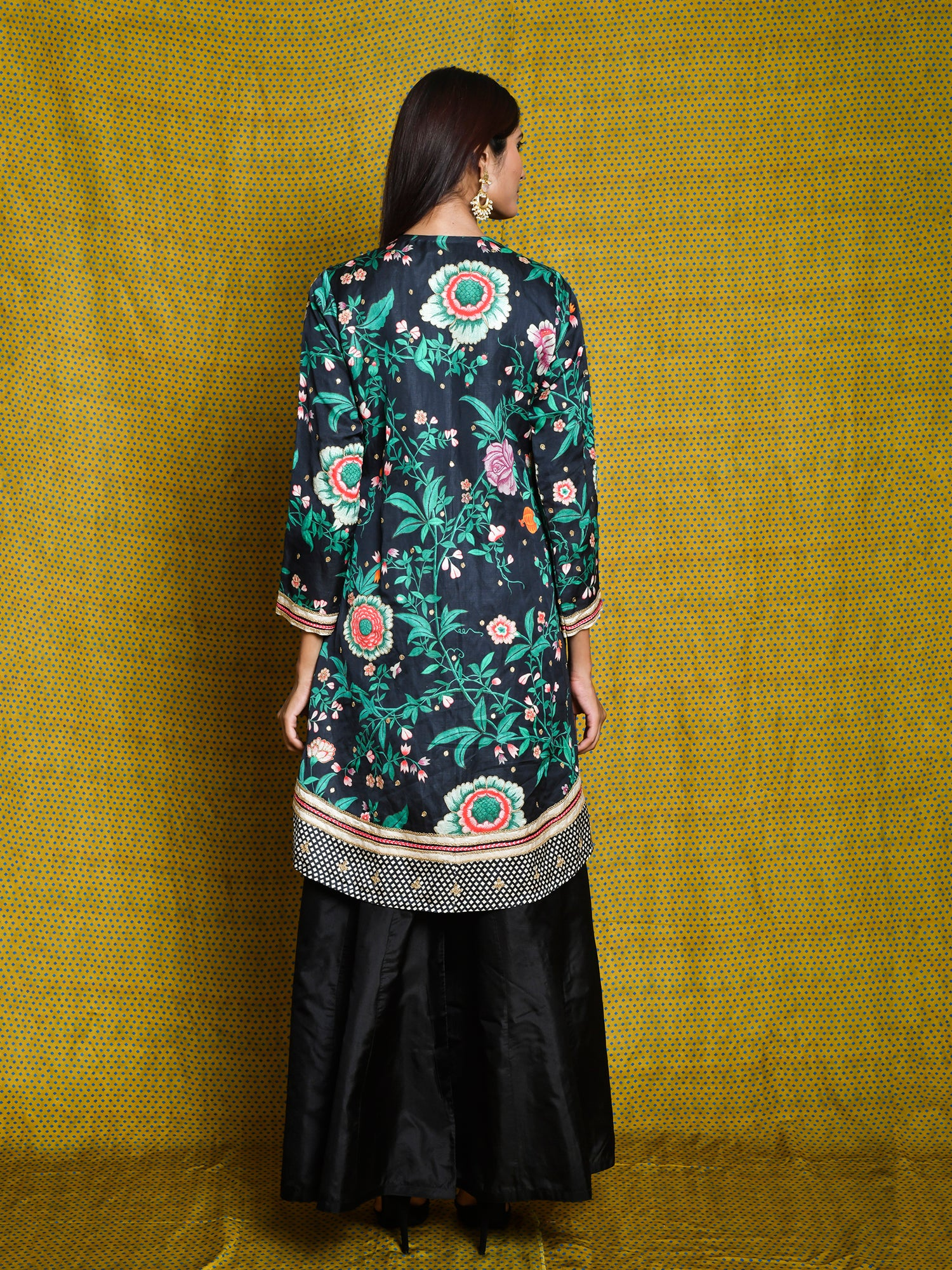 Vintage Garden Wrap Tunic And Palazzo Pants