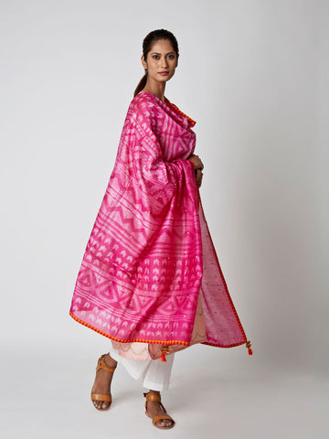 Rani Chanderi Tribal Dupatta
