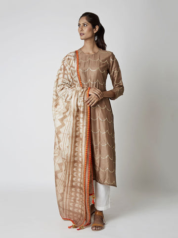 Camel Chanderi Tribal Dupatta