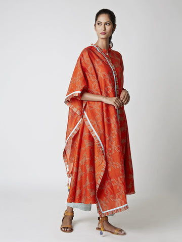 Amber Jaal Print Chanderi Stole