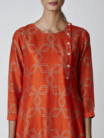 Amber Bundi Printed Flared Kurta
