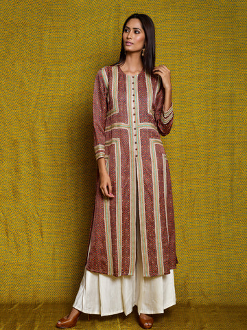 Ruby Braid Kurta Set