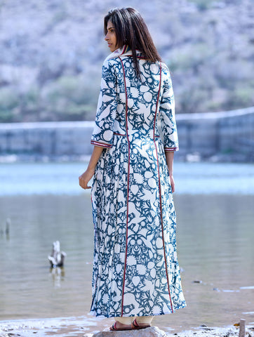 Love For Stripes Teal Printed Kurta