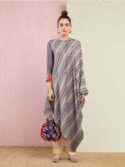 GREY TRIBAL STRIPES TUNIC