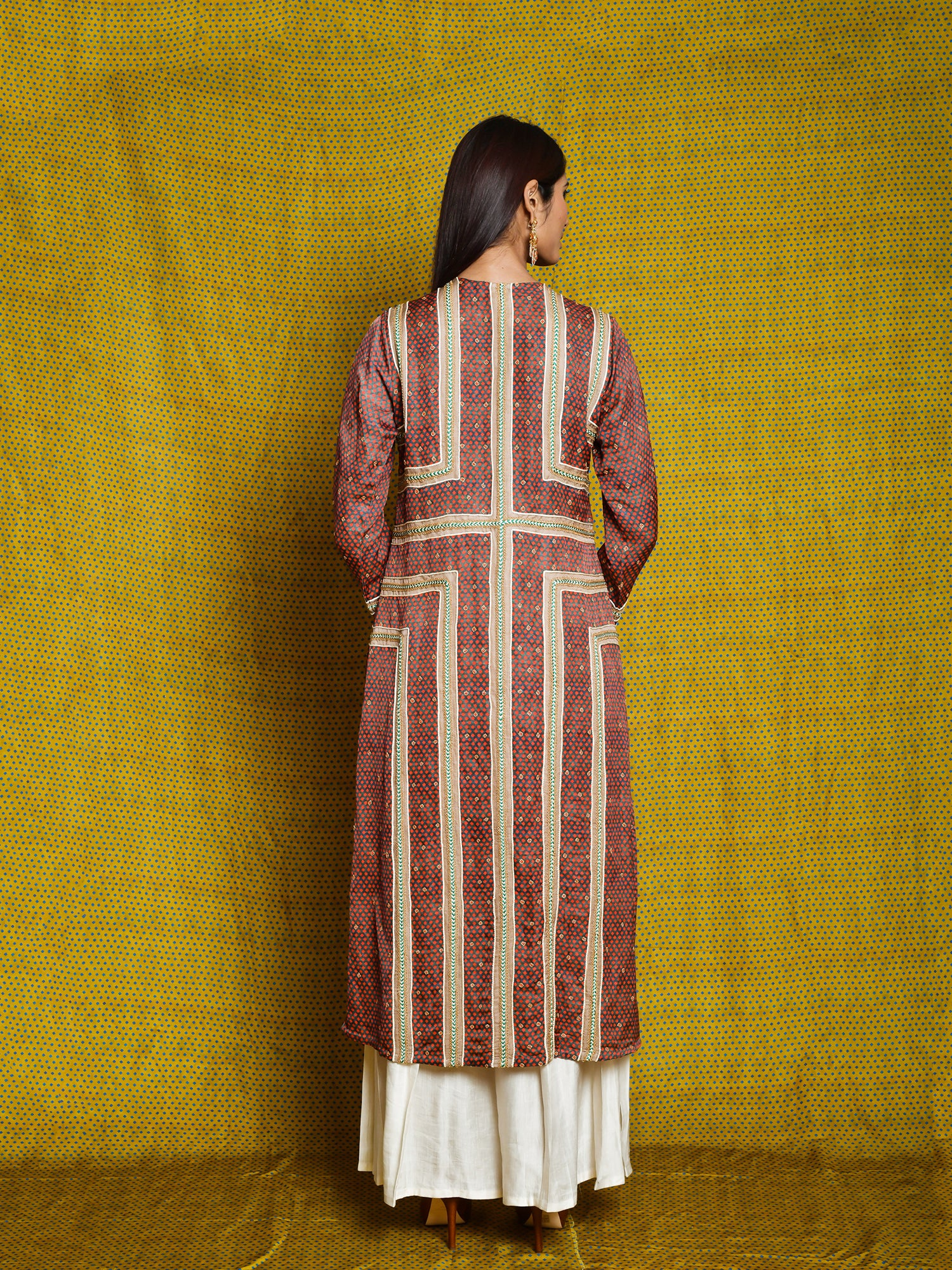 Vintage Garden Ruby Braid Kurta Set