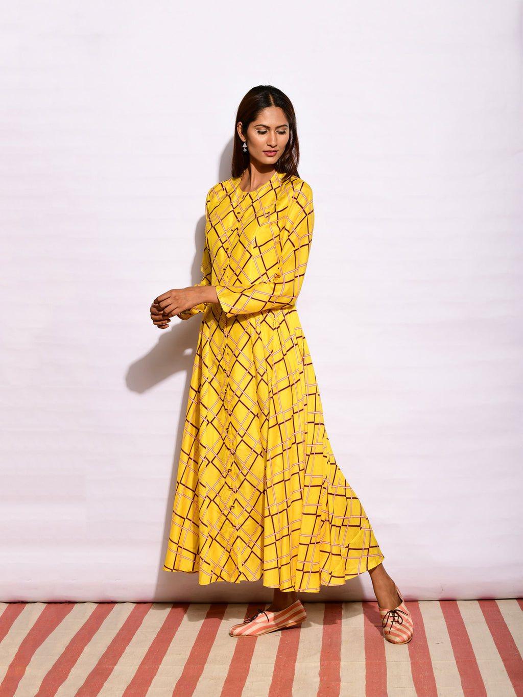 dresses, indian fashion, long dress, resortwear, printed long dress