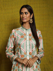 Vintage Garden Mint Embroidered Kurta Set
