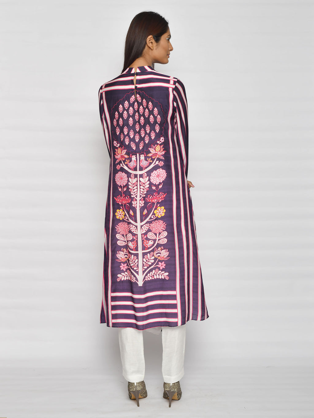 In Bloom Navy Stripe Drape Tunic