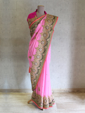 MOR KAMAL SAREE WITH BLOUSE