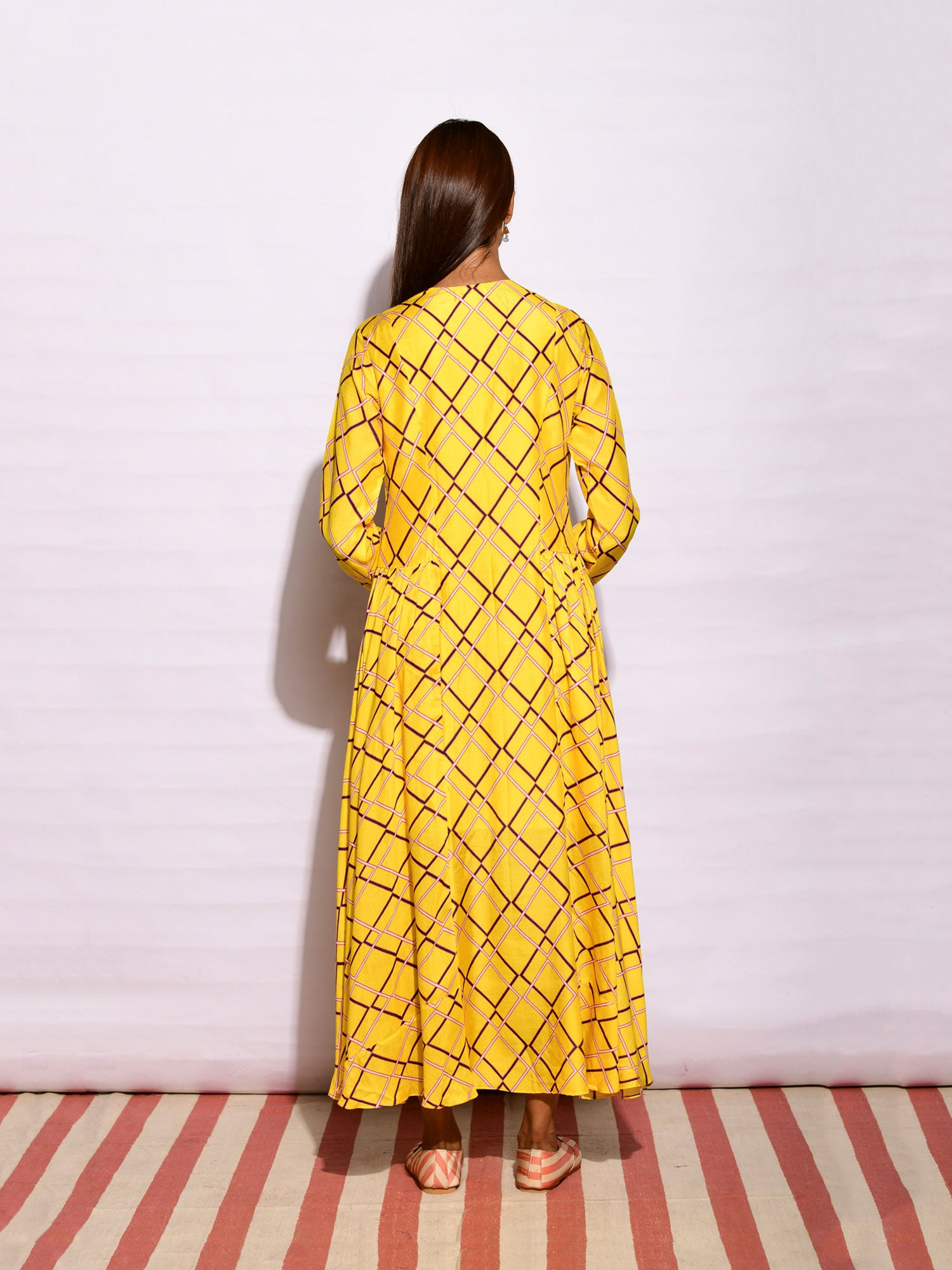 In Bloom Yellow Printed Tunic Dress