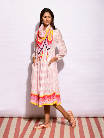 In Bloom Yellow Jaal Shirt Dress