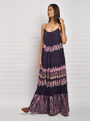 In Bloom Navy Crush Maxi Dress