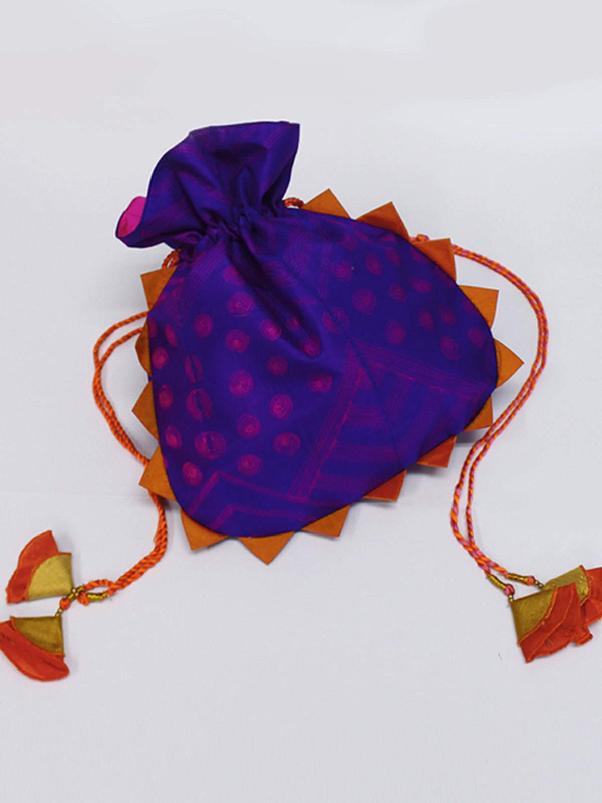 PURPLE SHIBORI POTLI BAG