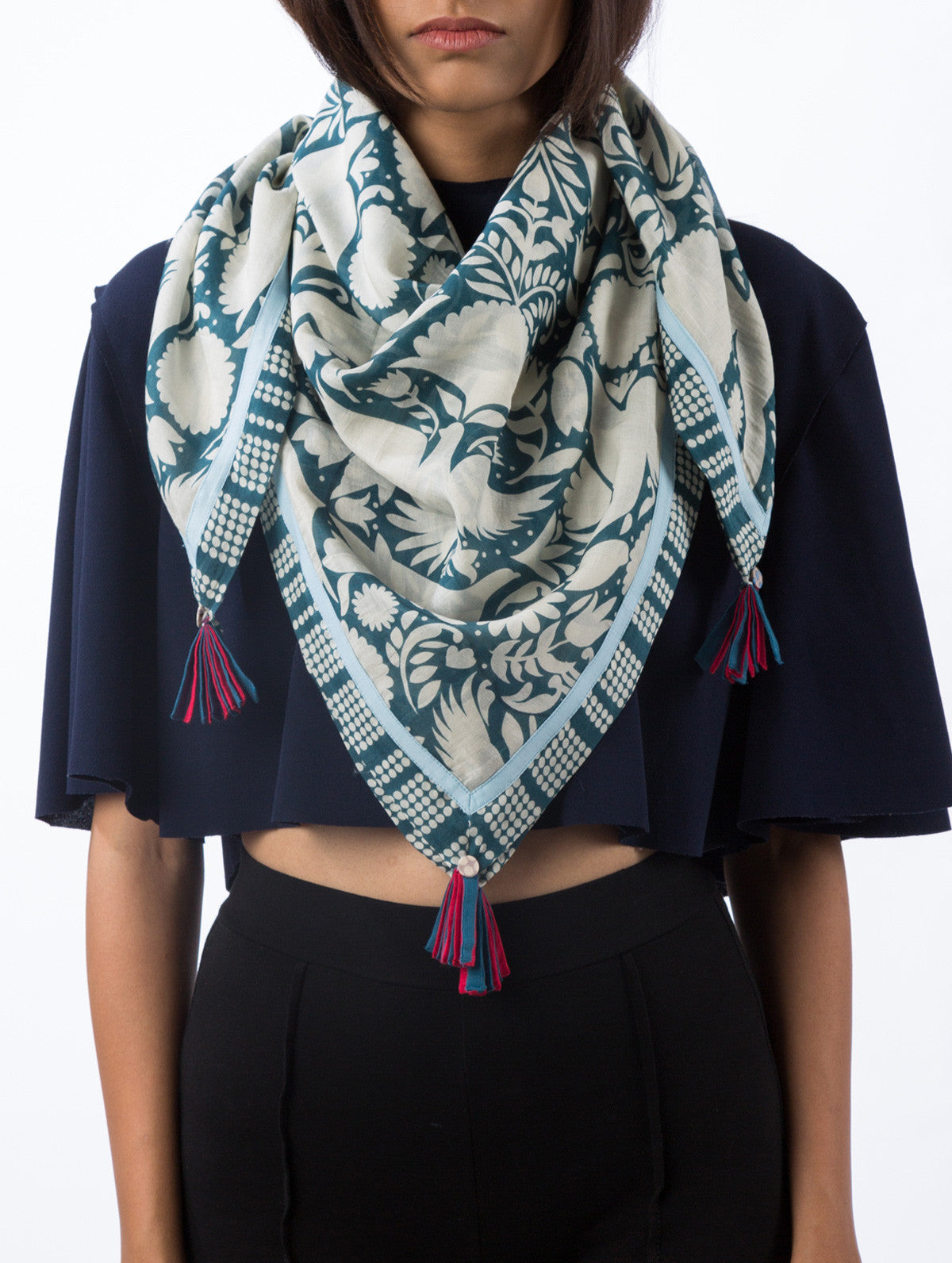 Love For Stripes Otomi Printed Scarf