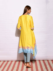 In Bloom Canary Asymmetrical Tunic