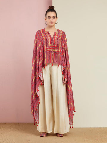 ROSE PINK TRIBAL CAPE