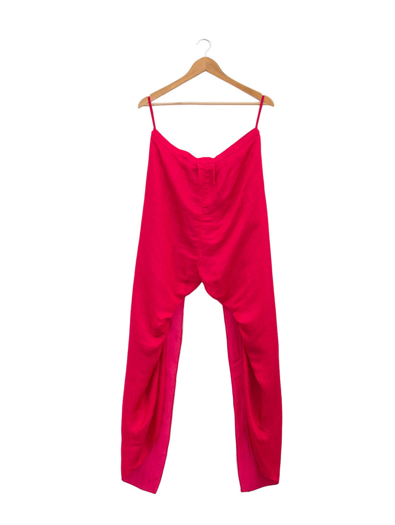 Crimson Dhoti Pants