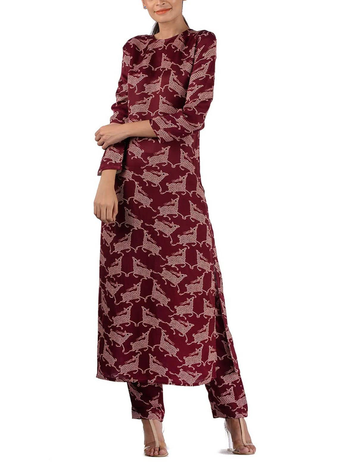 BUNDI PRINTED DEER KURTA SET