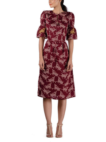 BUNDI PRINTED MIDI DRESS