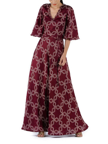 BUNDI PRINTED LONG DRESS