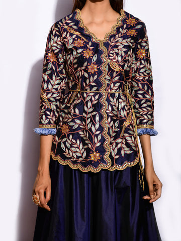 MITTHU EMBROIDED TOP WITH SKIRT