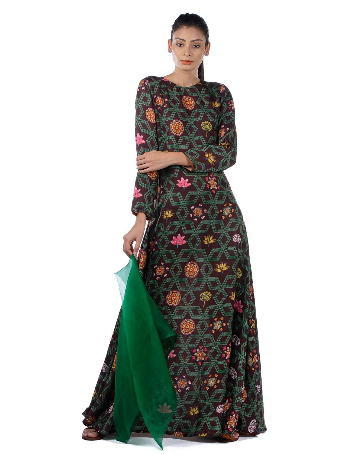 BUNDI PRINTED MAXI DRESS