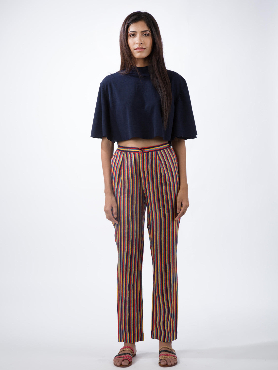 Multi Stripe Straight Pants