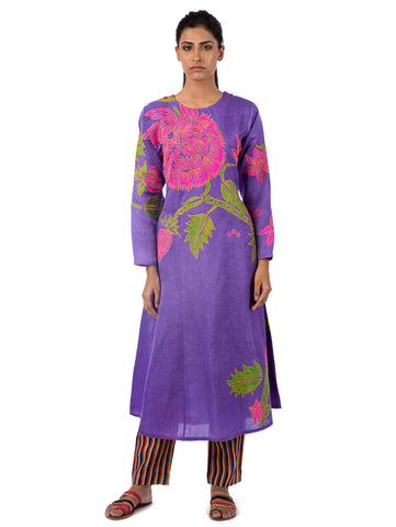 Orchid Applique Embroidered Kurta