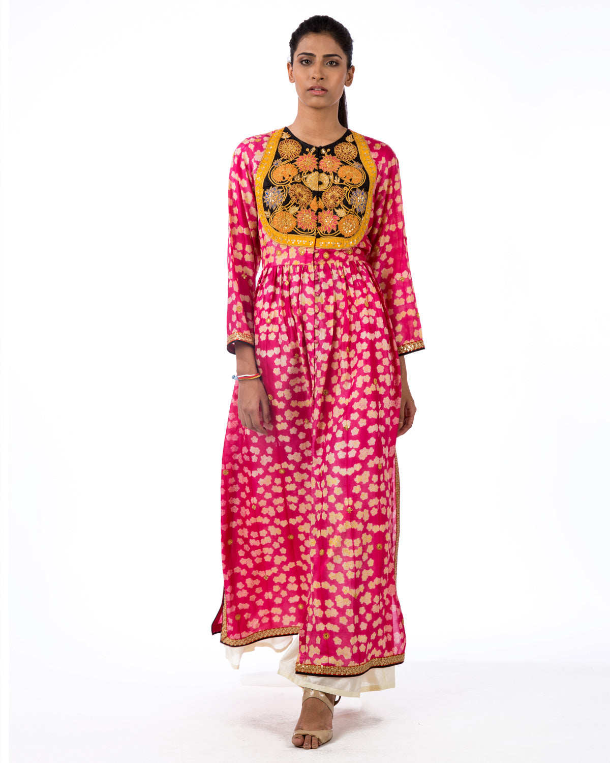 RAAS FUCHSIA MARODI EMBROIDERED KURTA SET