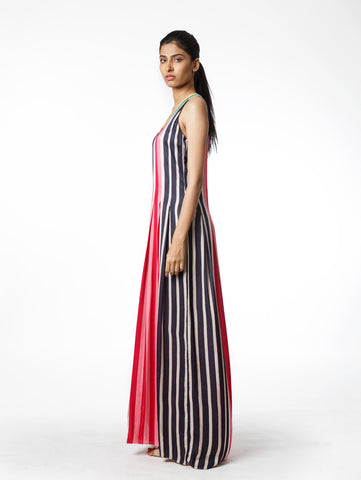 Multi Stripe Long Dress