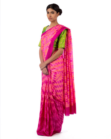 SAREE, SARI, SILK SAREE, EMBROIDERED, SHIBORI