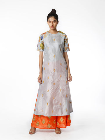Embroidered, kurta, kurta set, tunic, palazzo pants