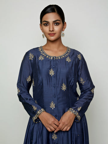 BLUE MARODI KURTA SET