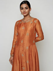 RUST MARODI KURTA SET