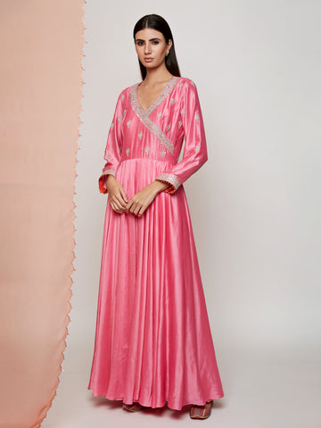 PINK ANGRAKHA MARODI DRESS
