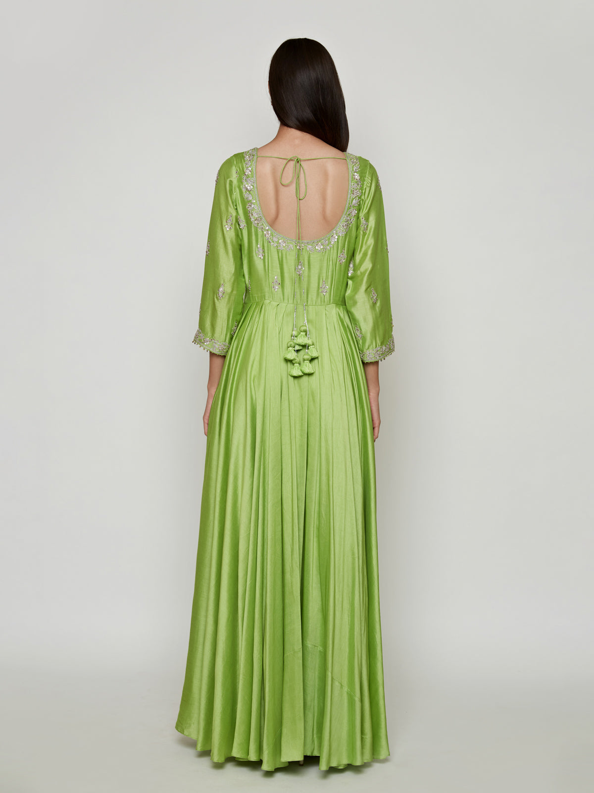 GREEN marodi embroidery dress