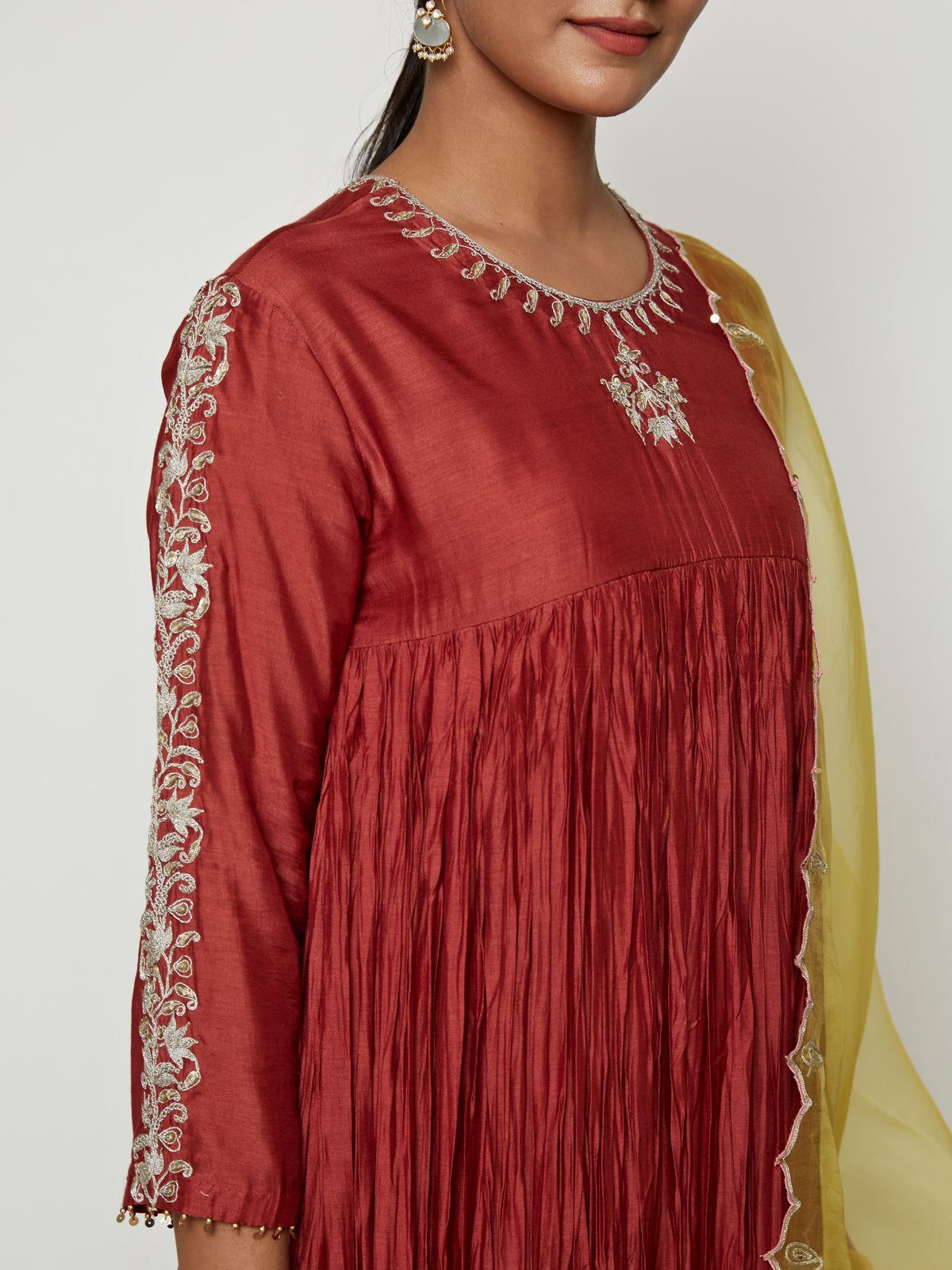 TERRACOTA MARODI KURTA SET