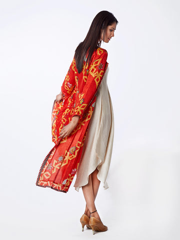 PRINTED, COTTON, SILK, SCARF, SCARVES, JACKET, DRESS, SWATI VIJAIVARGIE