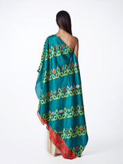 CAPE, TOP EMBROIDERED, PRINTS, PRINTED, TEAL, PRINTED, SWATI VIJAIVARGIE