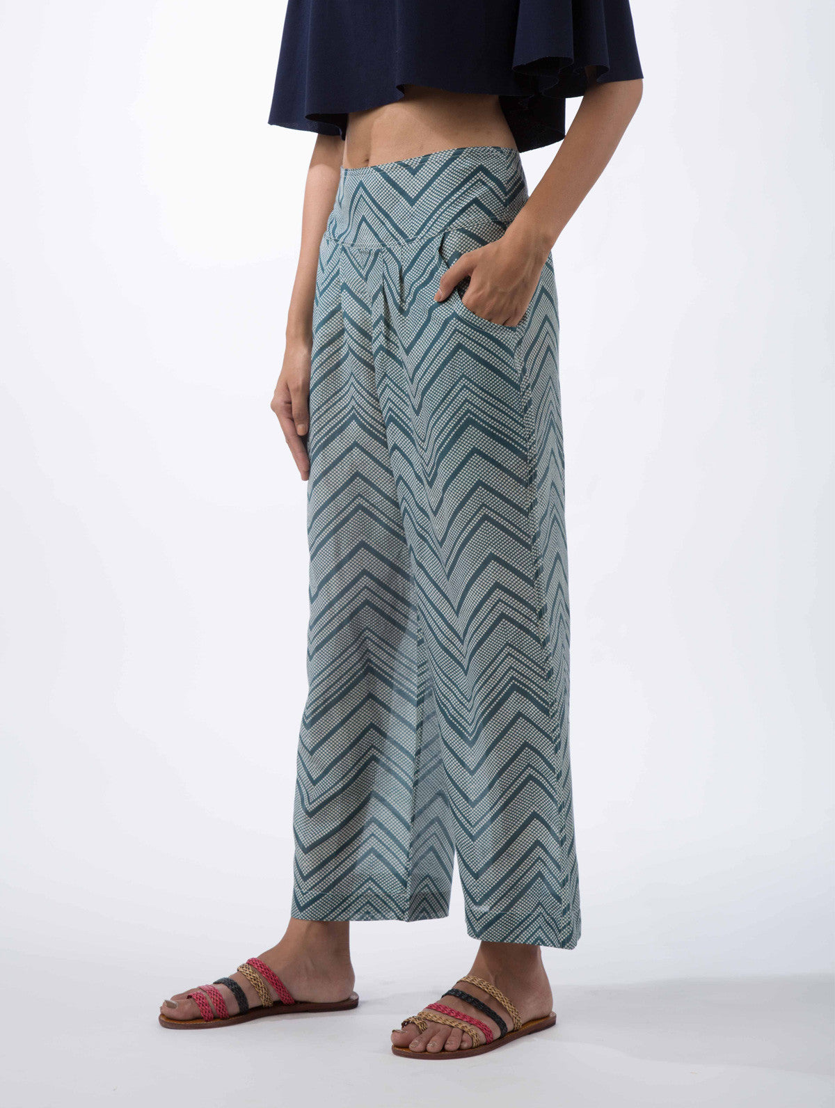 Chevron Printed Pants
