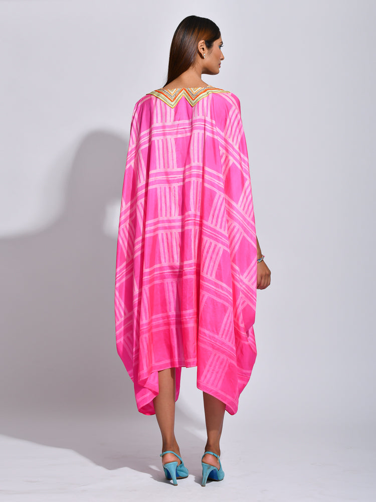 Raspberry Nomad Shibori Silk Dress