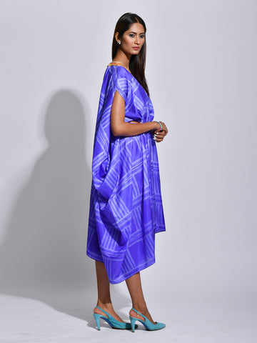 Purple Nomad Shibori Silk Dress