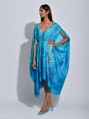 Cape, resort wear, silk, luxe, embroidered