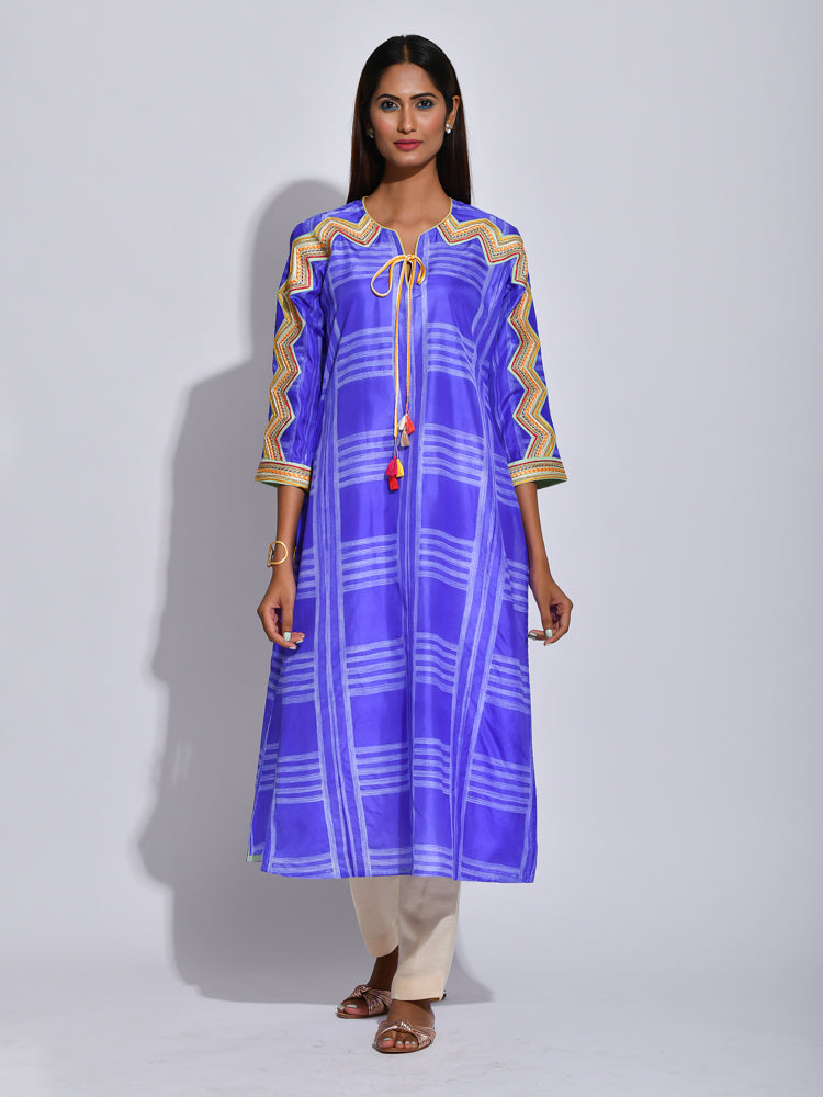 shibori silk, silk kurta, silk tunic, embroidered tunics, indianwear, indian fashion