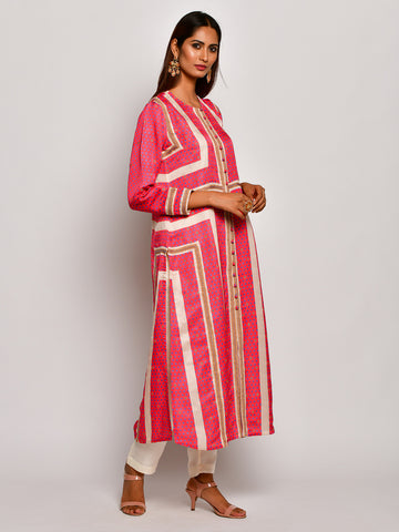 Guldasta Very Berry Embroidered Kurta Set