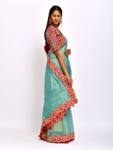 EKRANG KAMAL SUNHERI SAREE WITH BLOUSE