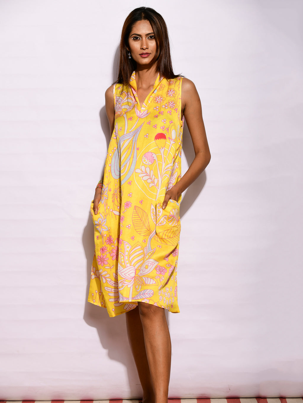 INBLOOM YELLOW SHORT DRESS