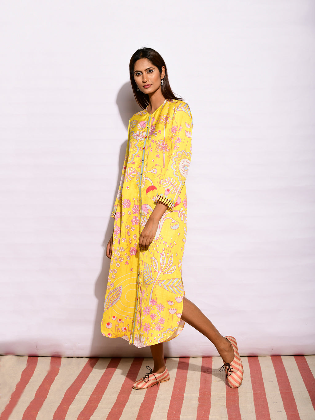 IN BLOOM JAAL YELLOW SHIRT DRESS