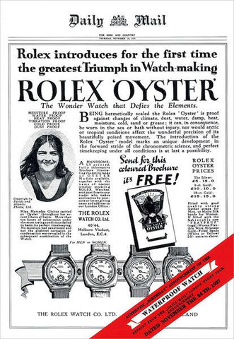Vintage Rolex Oyster Ad