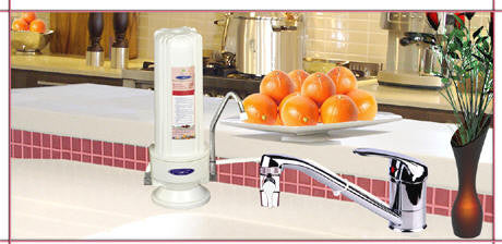 CRYSTAL QUEST® Mega Countertop Replaceable Single Fluoride Water Filter System